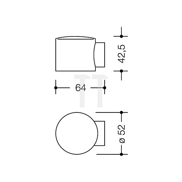 Bodentürpuffer 615 33 Durchmesser 52mm Höhe 42,5mm rubinrot
