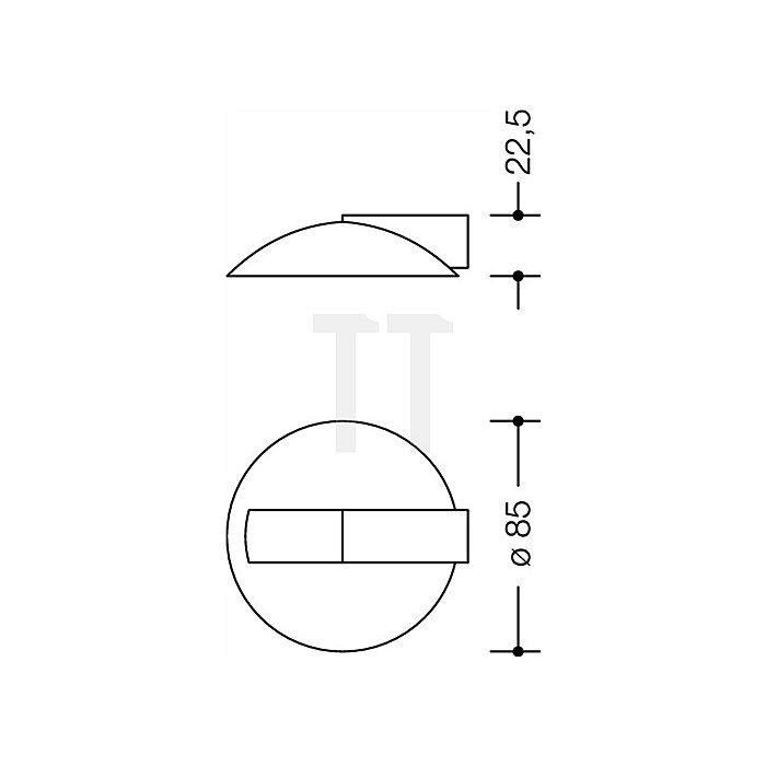 Bodentürpuffer 625 50 Durchmesser 85mm Höhe 22,5mm stahlblau