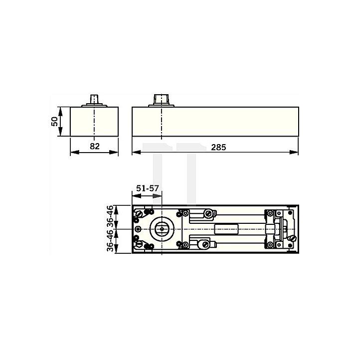 Bodentürschließer BTS 75 V Feststellung 90 Grad Flügelbreite max. 1100mm