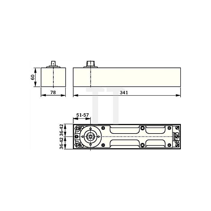 Bodentürschließer BTS 80 Größe EN 6 Flügelbreiten bis max.1100mm