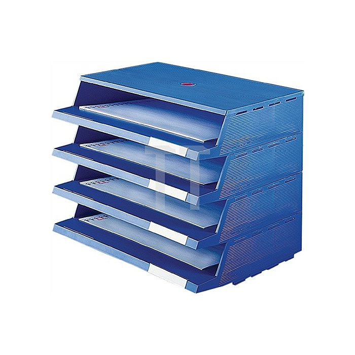 Briefablagesystem C4 blau z.Wandbefestigung geeig. 19tlg.