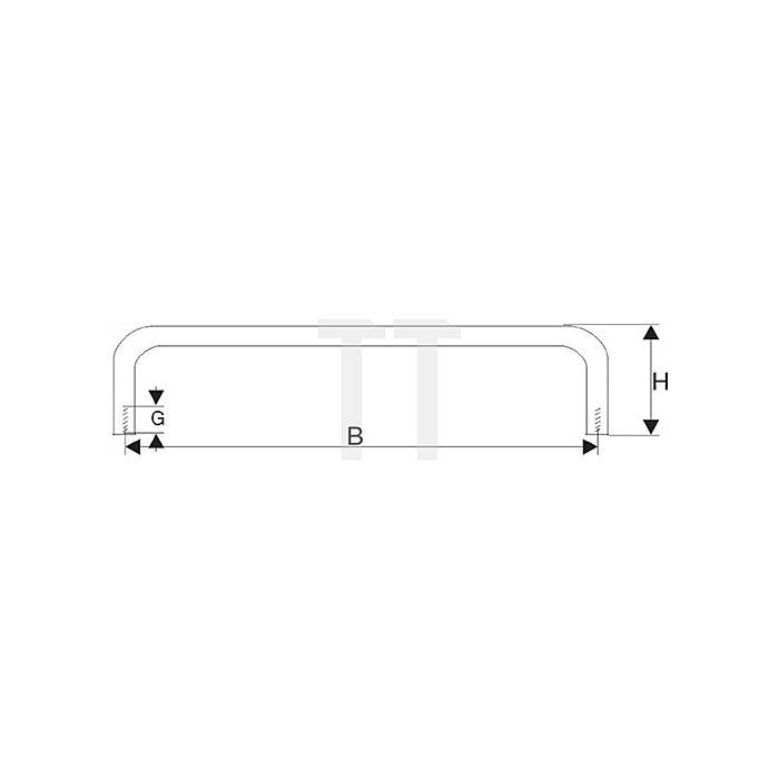 Bügelgriff, 128x35x10mm, Edelstahl