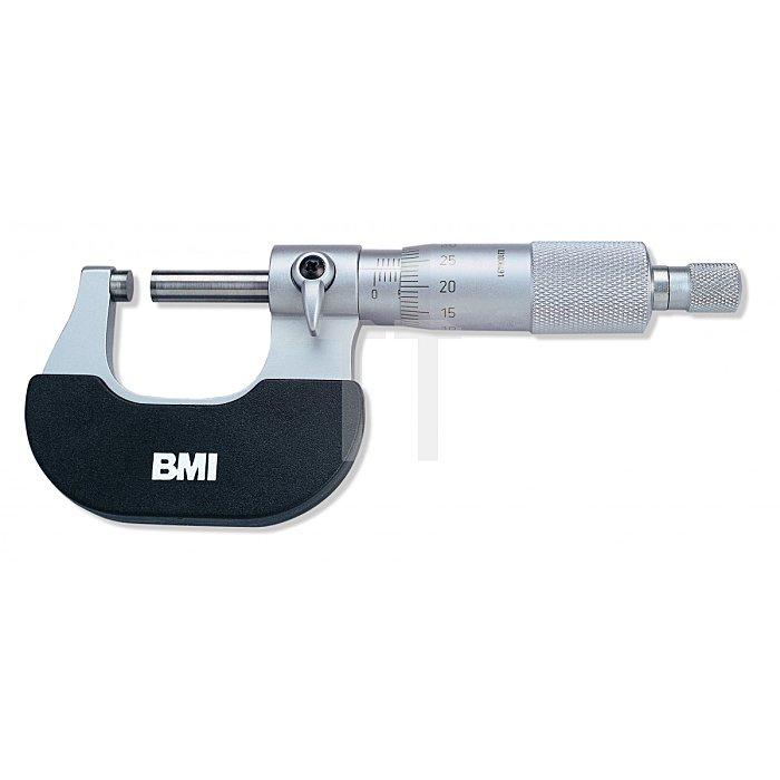 BMI Bügelmessschraube, Mikrometer Messbereich 0 - 25mm 765000025