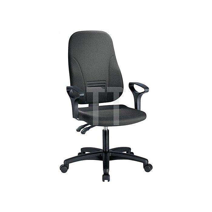 Bürodrehstuhl anthrazit m.Permanentkontaktmechanik Sitzh.405-520mm o.Armlehnen