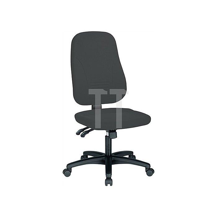 Bürodrehstuhl anthrazit m.Synchronmechanik Sitzh.420-530mm o.Armlehnen
