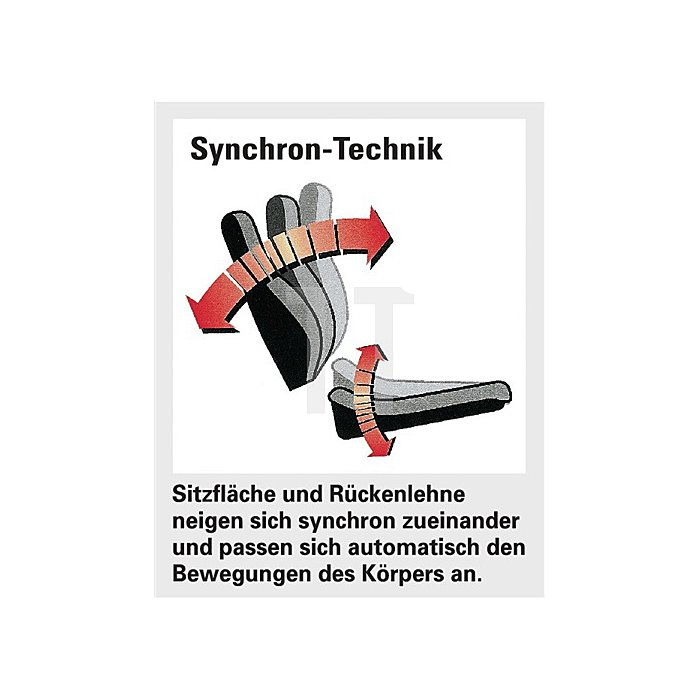 Bürodrehstuhl anthrazit Synchr.Technik Sitzfl.B455xT405mm o.Armlehnen