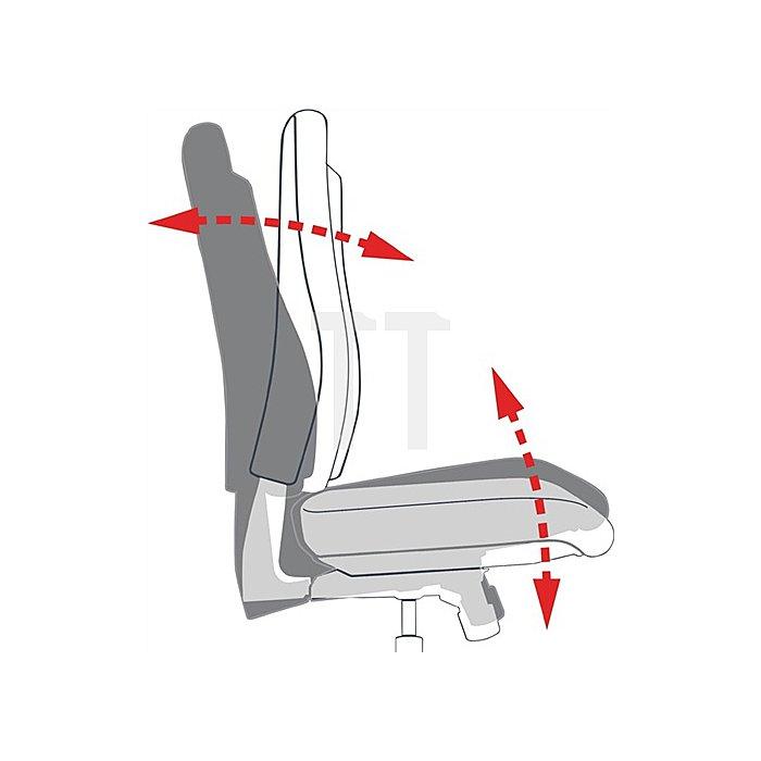 Bürodrehstuhl aubergine m.Autosynchrontechnik Sitz-H.420-550mm mit Armlehnen