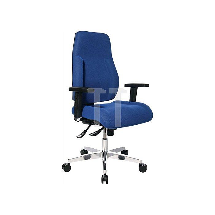 Bürodrehstuhl blau Lehnen-H.600mm Sitz-H.430-510mm o.Armlehnen