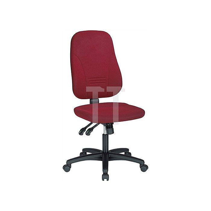 Bürodrehstuhl bordeaux m.Synchronmechanik Sitzh.420-530mm o.Armlehnen