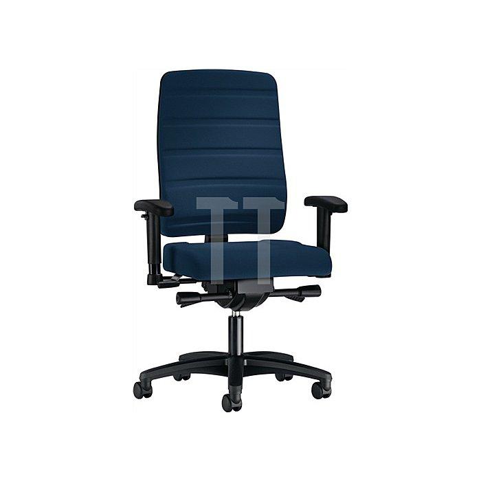 Bürodrehstuhl dunkelbl. m.Synchronmechanik Sitzh.420-550mm o.Armlehnen