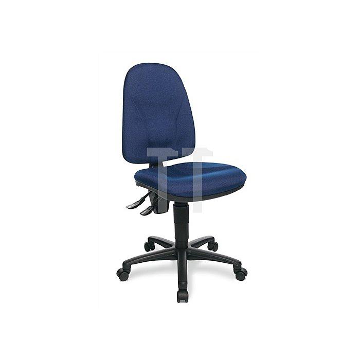 Bürodrehstuhl royalblau Lehnen-H.520mm Sitzfläche B450xT440mm o.Armlehnen