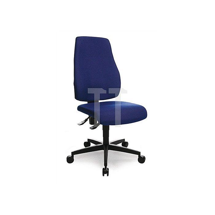Bürodrehstuhl royalblau Lehnen-H.580 Sitz-H.420-550 Permanent o.Armlehnen