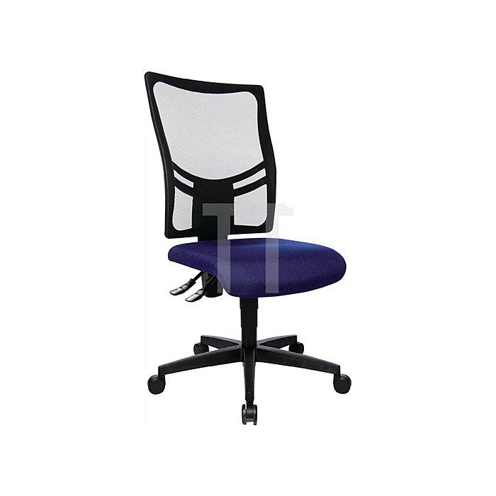 Bürodrehstuhl royalblau Lehnen-H.620mm Sitz-H.380-500mm o.Armlehnen
