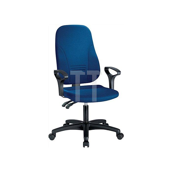 Bürodrehstuhl royalblau m.Permanentkontaktmechanik Sitzh.405-520mm o.Armlehnen