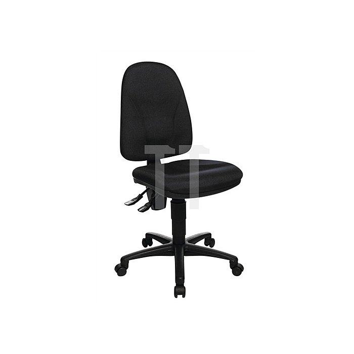 Bürodrehstuhl schwarz Lehnen-H.520mm Sitzfläche B450xT440mm o.Armlehnen