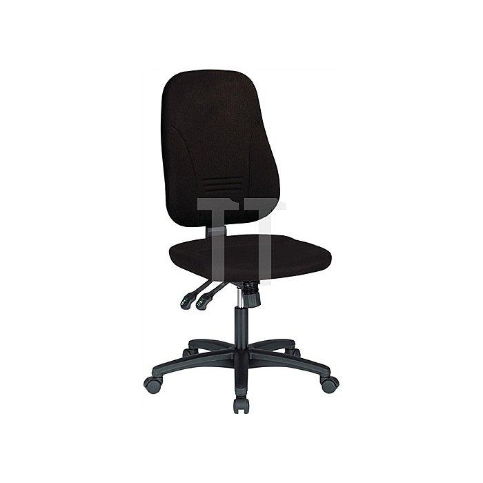 Bürodrehstuhl schwarz m.Synchronmechanik Sitzh.420-530mm o.Armlehnen