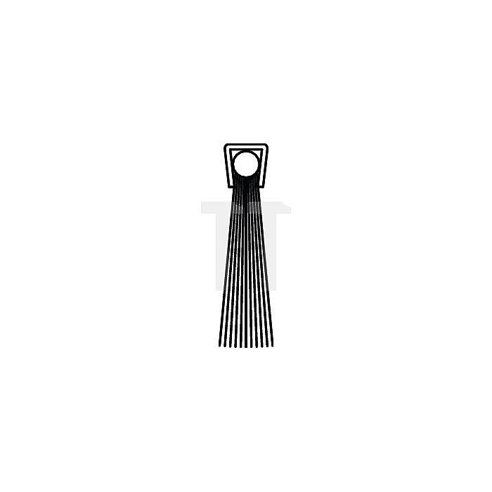 Bürstendichtung Polyamid Länge 1000mm Höhe 16mm Haarbesatz 10mm