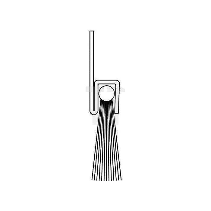 Bürstendichtung Rosshaar Länge 1000mm Höhe 31mm Haarbesatz 25mm