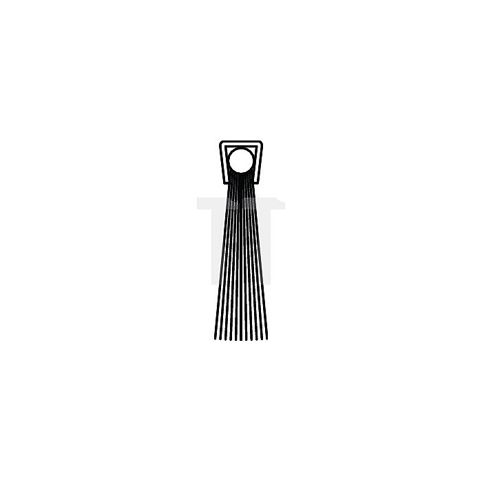 Bürstendichtung Rosshaar Länge 2000mm Höhe 31mm Haarbesatz 25mm