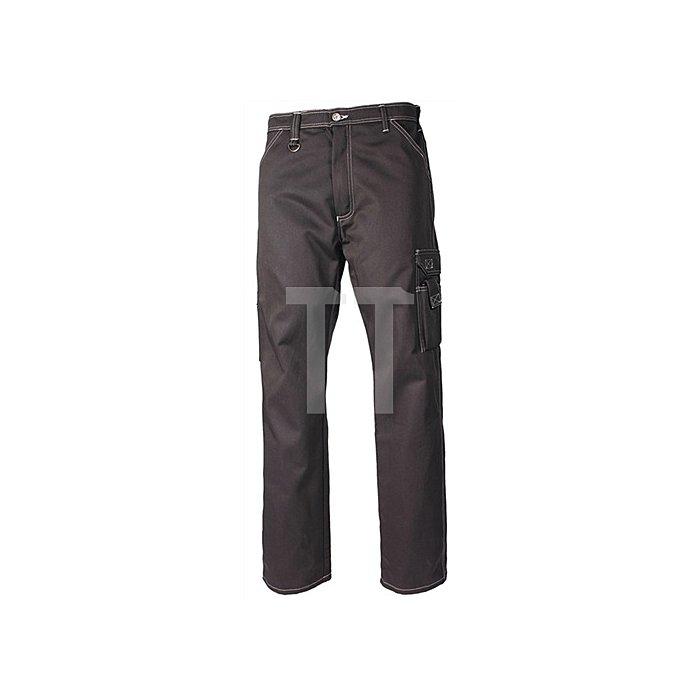 Bundhose Gr.48 schwarz Worker-Jeans 65%PES/35%CO TRANEMO Kontrastnähte