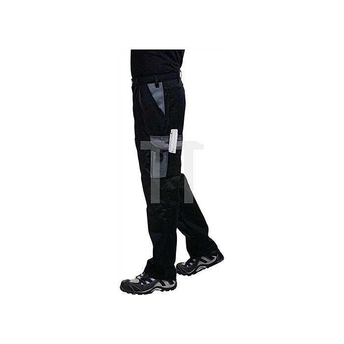 Bundhose Gr.50 schwarz/grau 65%PES/35%CO
