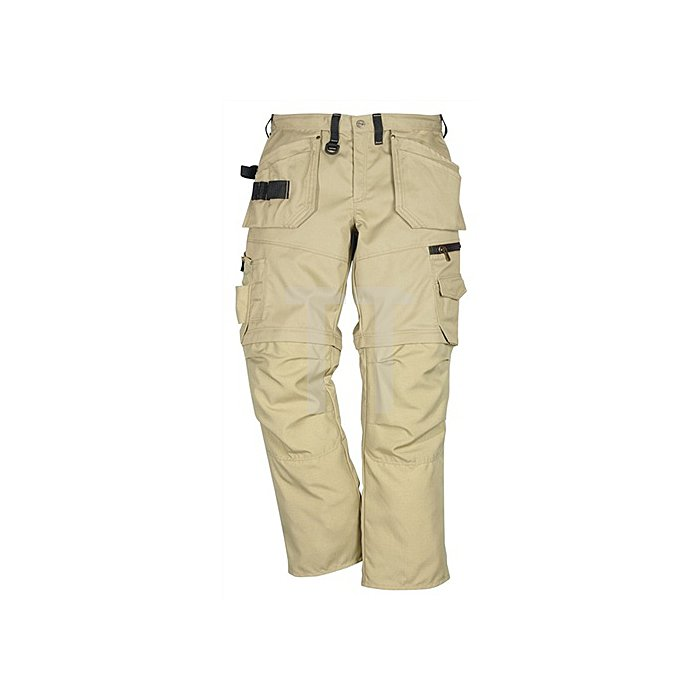 Bundhose Zipp-off Gr.56 khaki 330g/m2 65%PES/35%CO FRISTADS