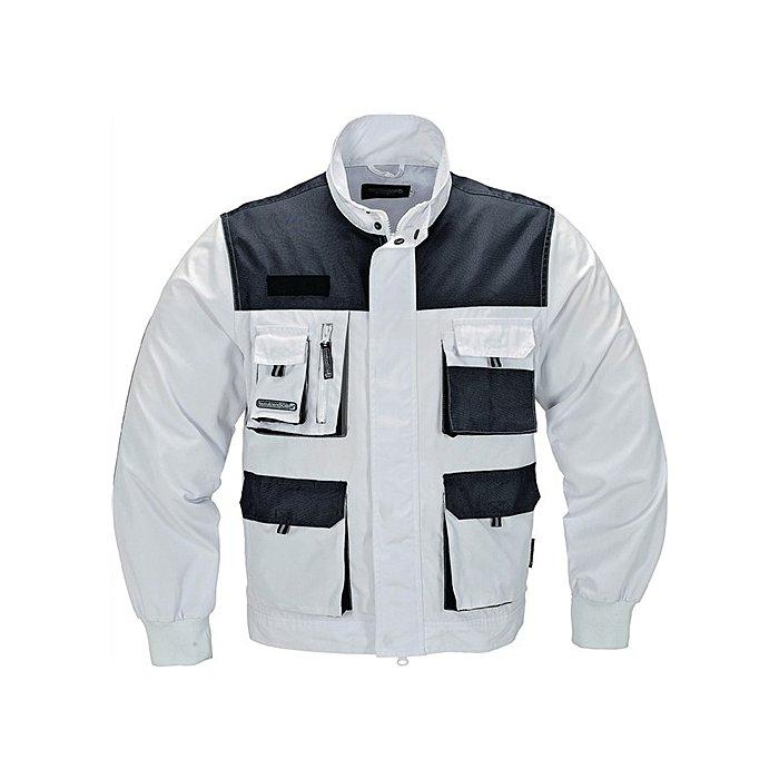 Bundjacke Gr.54 weiss-grau 65% Polyester/35% Baumwolle, 270g/m²
