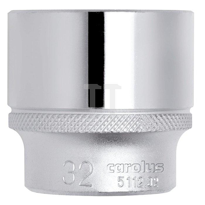 CAROLUS Steckschlüsseleinsatz 1/2, 12-kant, 22 mm