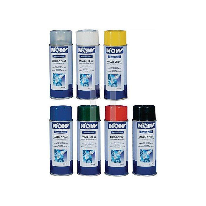 Colorspray 400ml feuerrot RAL3000 hochglänzend NOW f.Metall/Holz