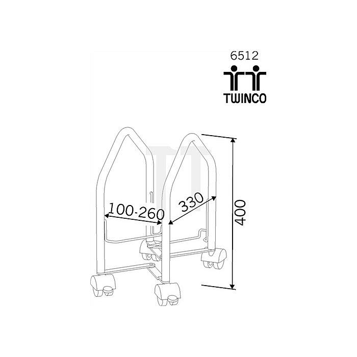 CPU-Wagen grau Stellung schräg 4Rollen 2feststellbar B.100-260mm