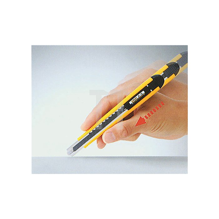 Cuttermesser B.9mm m.Stahlführung m.prakt.Hemdclip OLFA