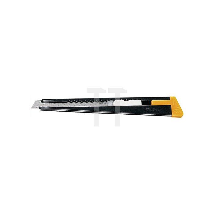 Cuttermesser L.140mm B.9mm Metallführung Gehäuse: Metall Griffzone: Metall Olfa