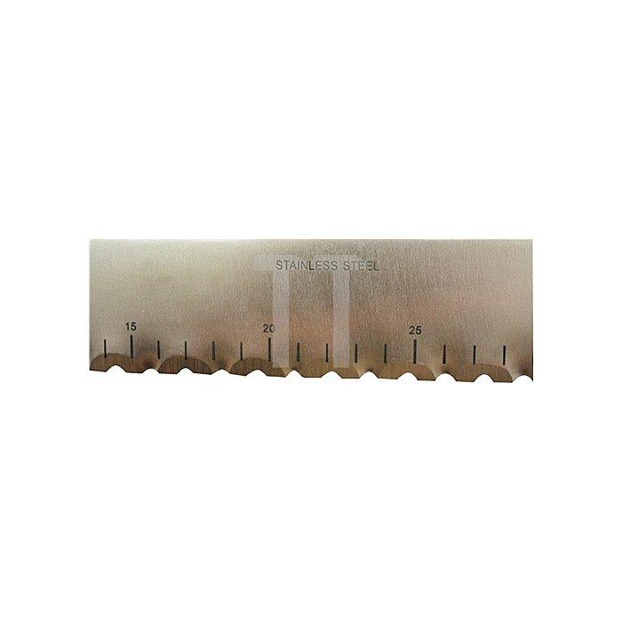 Dämmstoffmesser Gesamt-L.340mm m.Skala welligem Schliff breite, stabile Ausf.