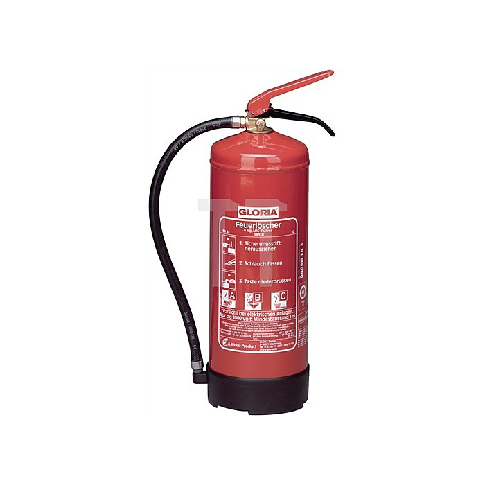 Dauerdruckfeuerlöscher 12kg Brandkl.A/B/C m.Wandhalter