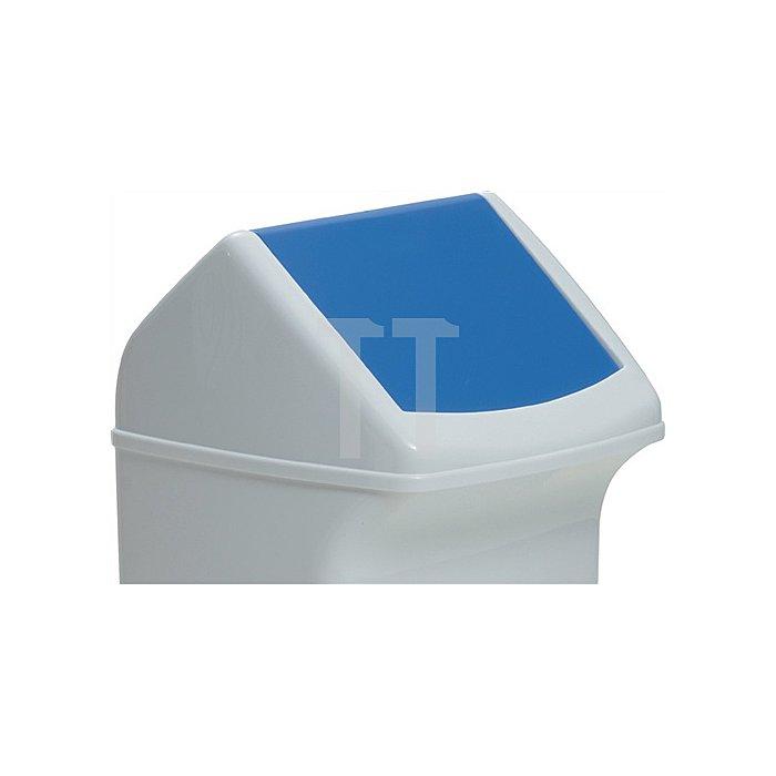Deckel für Abfallsammler 40l mit blauer Einwurfklappe