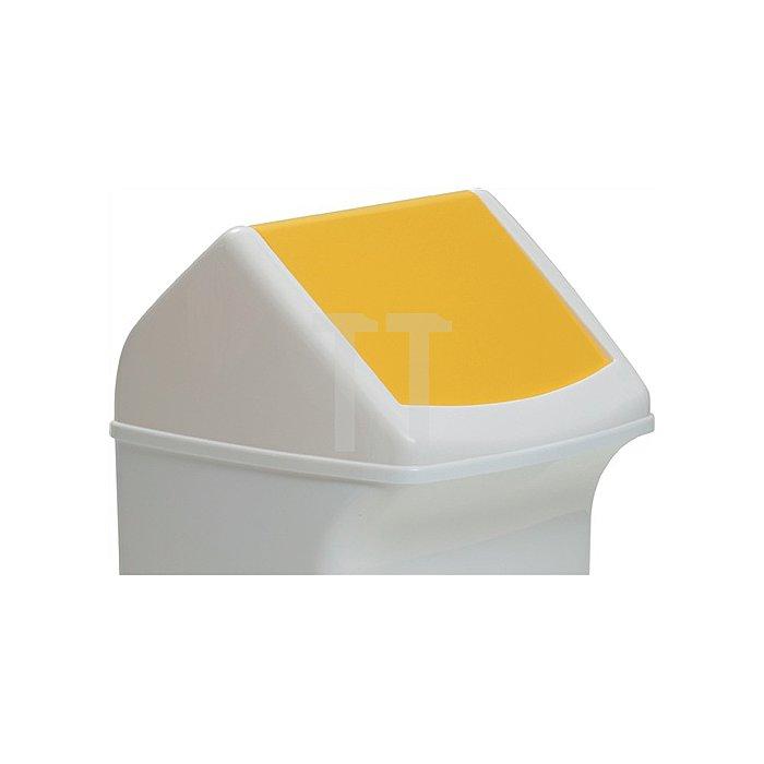 Deckel für Abfallsammler 40l mit gelber Einwurfklappe