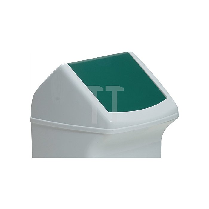 Deckel für Abfallsammler 40l mit grüner Einwurfklappe