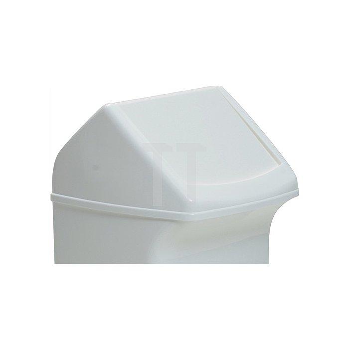 Deckel für Abfallsammler 40l mit weisser Einwurfklappe