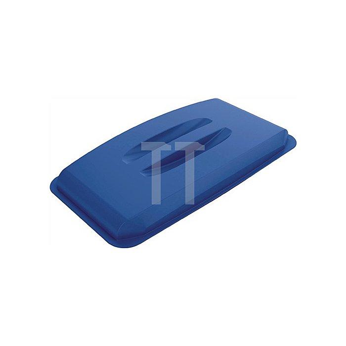 Deckel für Wertstoffsammler 60l blau m.Griffen B555xT285mm