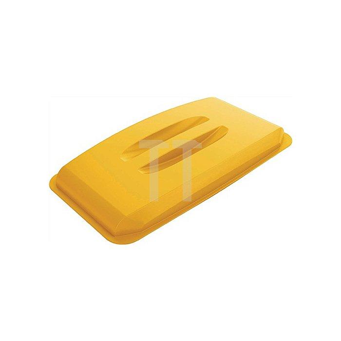 Deckel für Wertstoffsammler 60l gelb m.Griffen B555xT285mm