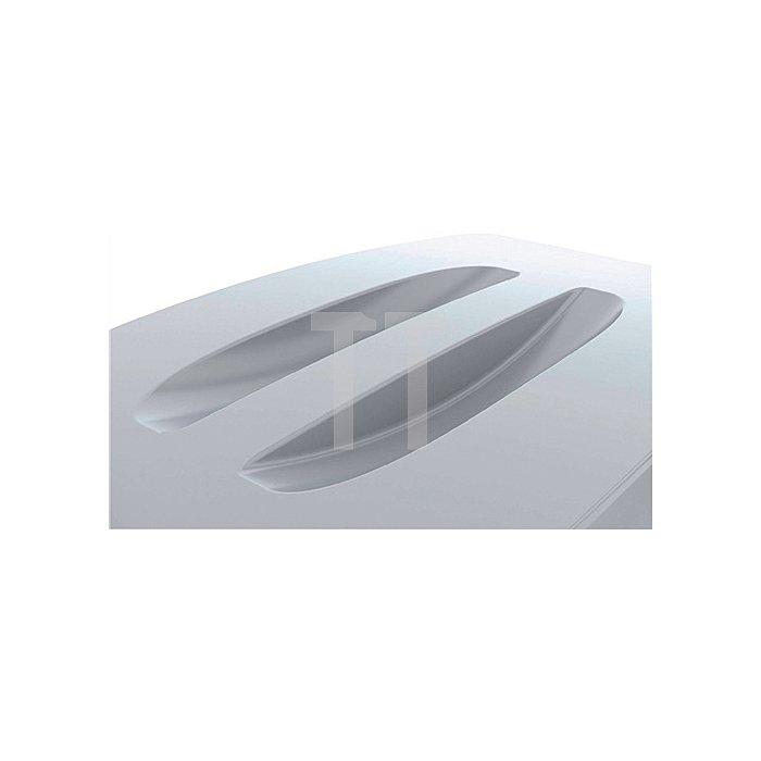 Deckel für Wertstoffsammler 60l grau m.Griffen B555xT285mm