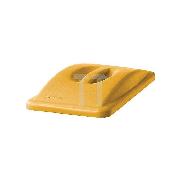 Deckel für Wertstoffsammler gelb m.Griff H.70xB.290xT.520mm