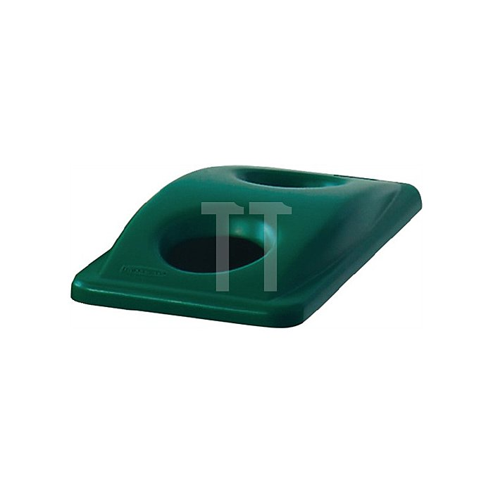 Deckel für Wertstoffsammler grün für Flaschen H.70xB.290xT.520mm