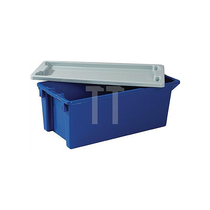 Deckel PP grau passend für Drehstapelbehälter 50l