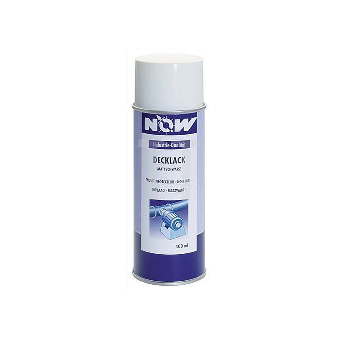 Decklack mattschwarz 400ml Spray NOW b.+450 Grad C