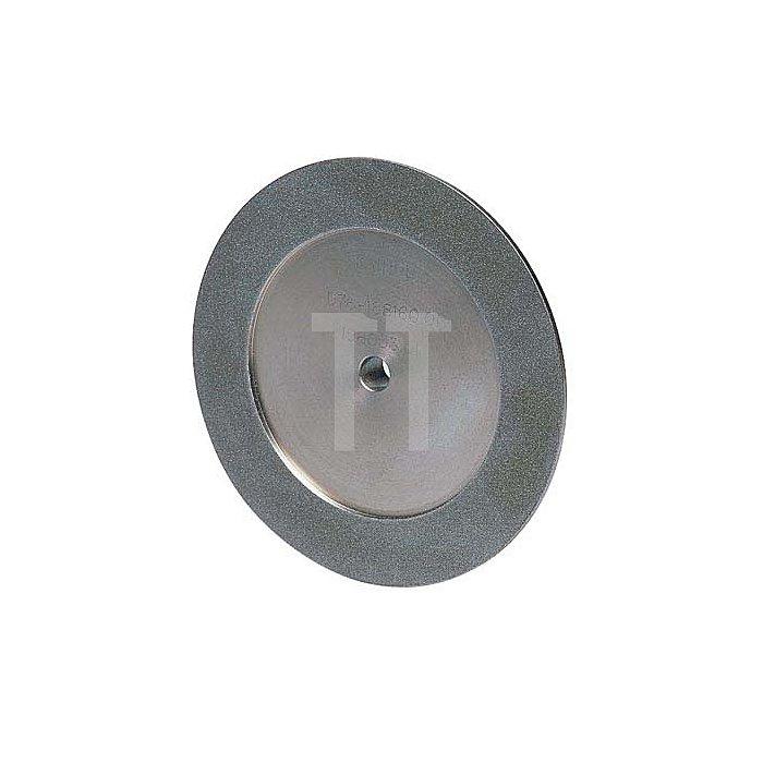 Diamantschleifscheibe dreiseitig belegt D 76/3 125 mm für HM-Bohrer