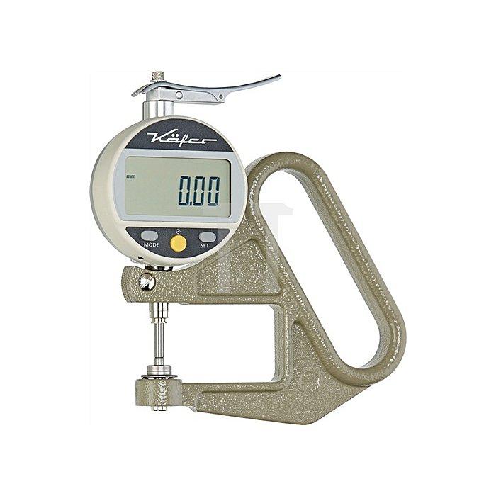 Digital-Dickenmessgerät JD50 10mm flach Ablesung 0,01mm 10=c m.Werkskalibrierung