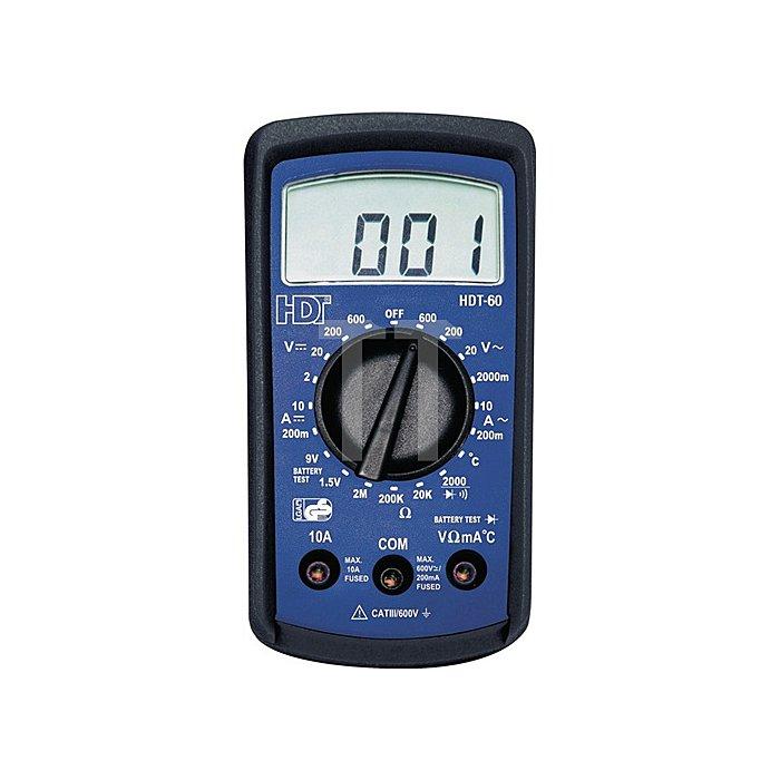 Digitalmultim. AC/DC Spannung2-600V AC/DC Strom200 mA/10A Widerstandsm.2K-2MOhm