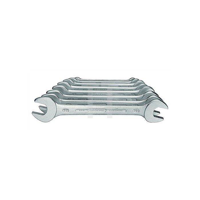 Doppelmaulschlüsselsatz SW6x7-20x22mm 8tlg. DIN3110 GEDORE ISO3318/1085