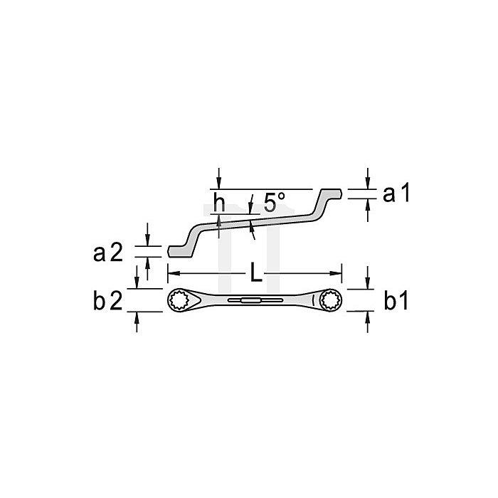 Doppelringschlüssel 12-kant 1/8x3/16 W